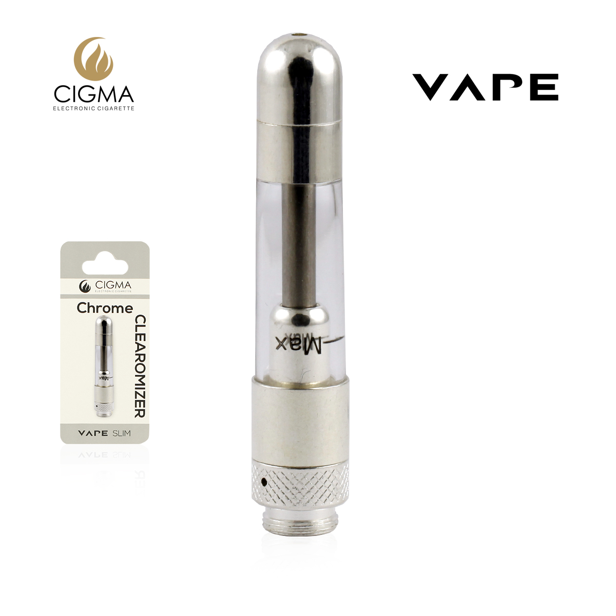 VAPE CLEAROMIZER SLIM CHROME